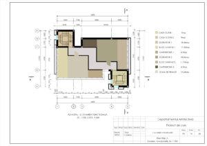 Plan Etaj -3, Zonarea funcțională, Sc. 1:100