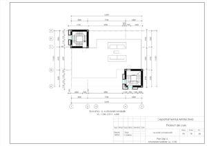 Plan Etaj -2, Amplasare Mobilier, Sc. 1:100