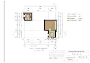 Plan Etaj -1, Zonarea funcțională, Sc. 1:100