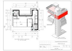 Plan Parter Dimensiuni constructive, Sc. 1:100