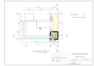 Plan Etaj, Zonarea funcțională, Sc. 1:100