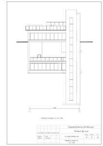 Fațada în axele1-5, Sc.1:100
