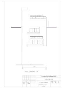 Fațada în axele A-E, Sc. 1:100