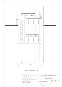 Fațada în axele E-A, Sc. 1:100