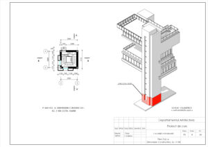 Plan Etaj -6, Dimensiuni Constructive, Sc. 1:100
