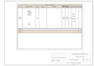 Tablou elemente de tâmplărie- Uși 1
