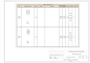 Tablou elemente de tâmplărie- Uși 6