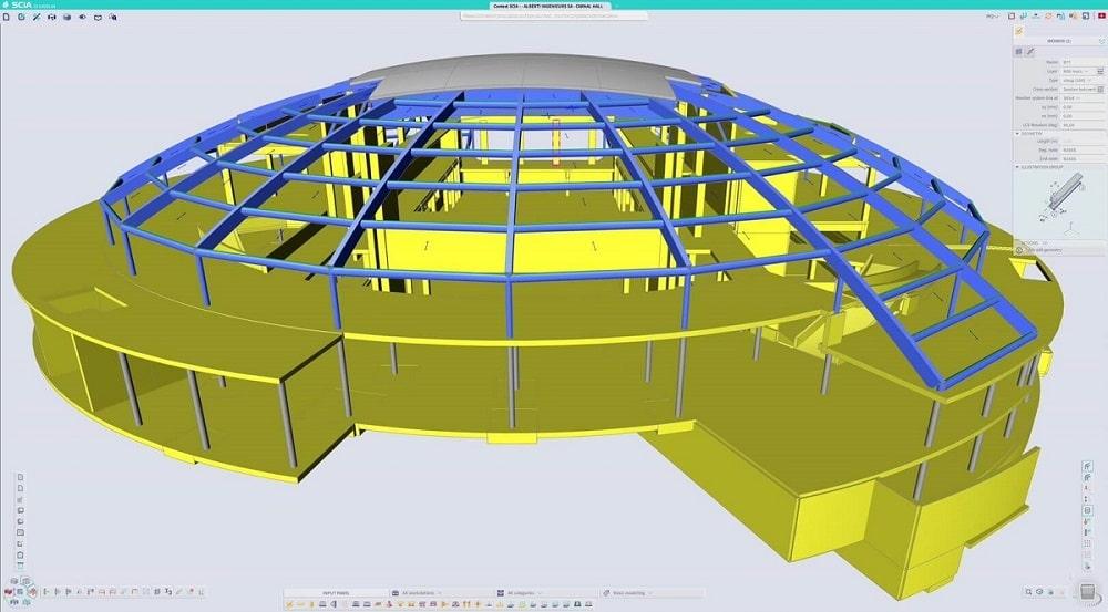 Noua interfata SCIA Engineer 21 - workspace de aproape 100%