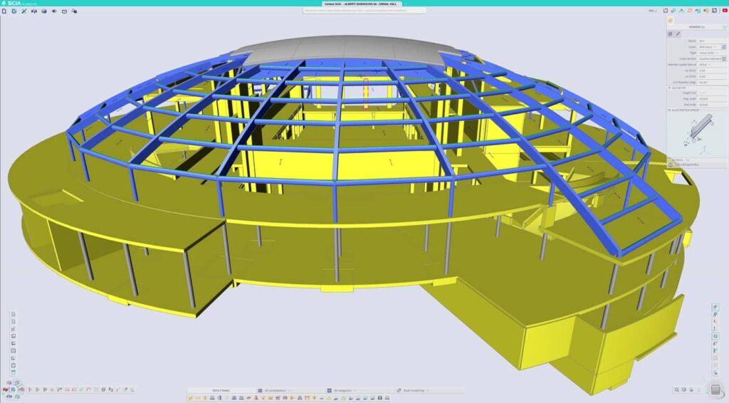 SCIA Engineer 21   Maximised working space
