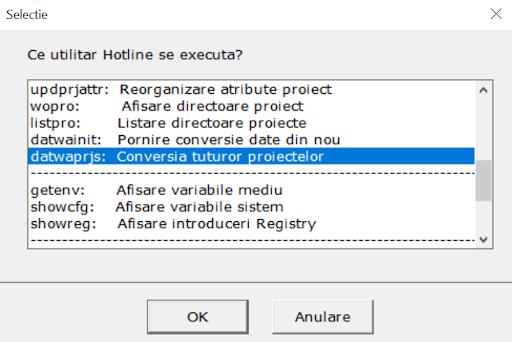 Allmenu Conversia tuturor proiectelor